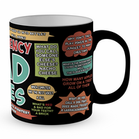 Emergency Dad Jokes Funny Satin Coated Premium Novelty Gift Mug